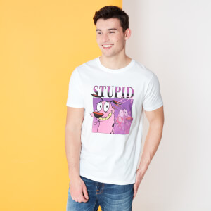 Cartoon Network Spin Off T-Shirt Courage Le Chien Froussard 90's Photoshoot - Blanc