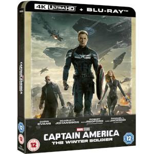Captain America: Le soldat de l'hiver 4K UHD (avec Blu-ray 2D) - Steelbook Exclusif Limité pour Zavvi (Édition UK)