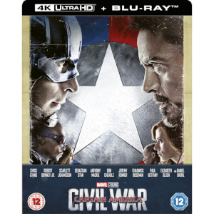 Capitán América: Civil War 4K UHD (incluye Blu-ray 2D) - Steelbook Edición Limitada Exclusivo de Zavvi (Edición UK)