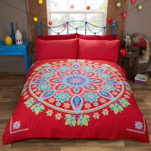 Rapport Bohemian Mandala Duvet Set - Red