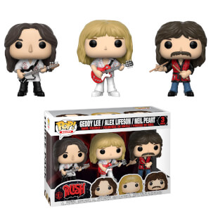 Figurines Pop! Rocks - Geddy, Alex, Neil - Rush 3-pack
