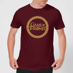 Game of Thrones Circle Logo Men's T-Shirt - Burgundy