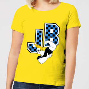 Johnny Bravo JB Varsity Women's T-Shirt - Yellow