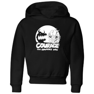 Courage The Cowardly Dog Spotlight Kids' Hoodie - Black
