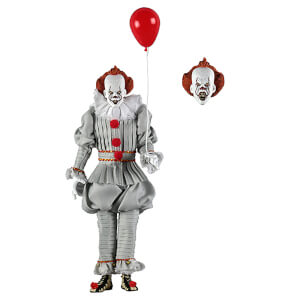 Action figure con abiti in tessuto di Pennywise, IT 2017 - NECA - circa 20 cm