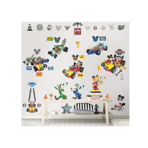 Walltastic Disney Mickey Mouse Roadster Racer Room Décor Kit