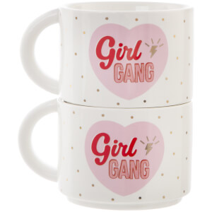 Sass & Belle Set of 2 Girl Power Stacking Mugs