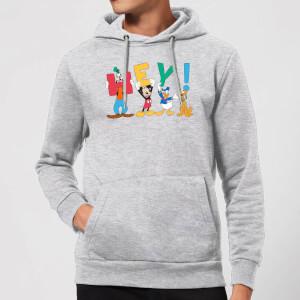 Disney Mickey Mouse Hey! Hoodie - Grey