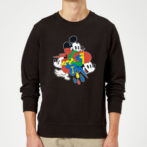 Disney Mickey Mouse Vintage Arrows Sweatshirt - Black