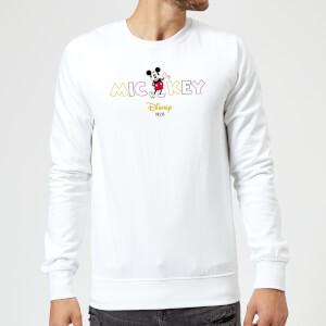 Disney Mickey Mouse Disney Wording Sweatshirt - White