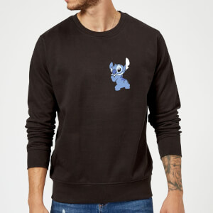 Disney Stitch Backside Sweatshirt - Black
