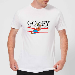Disney Goofy By Nature Herren T-Shirt - Weiß