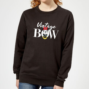 Disney Minnie Mouse Vintage Bow Women's Sweatshirt - Black