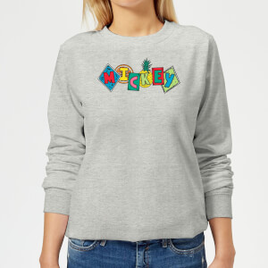 Disney Mickey Fruit Blocks Women's Sweatshirt - Grey