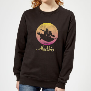Disney Aladdin Flying Sunset Women's Sweatshirt - Black