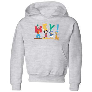 Disney Mickey Mouse Hey! Kinder Hoodie - Grau