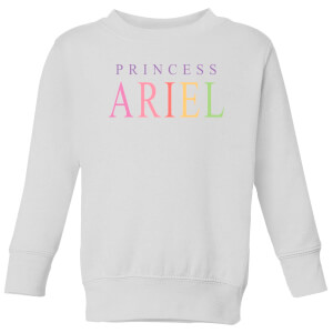 Disney The Little Mermaid Princess Ariel Kids' Sweatshirt - White