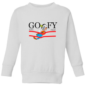 Disney Goofy By Nature Kids' Sweatshirt - White