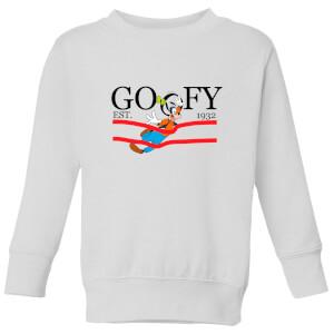 Disney Goofy By Nature Kids' Sweatshirt - White
