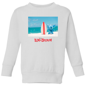 Disney Lilo And Stitch Surf Beach Kids' Sweatshirt - White