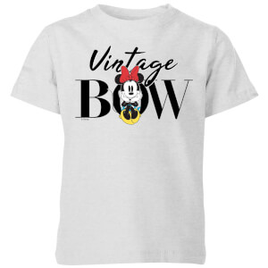 Disney Minnie Mouse Vintage Bow Kids' T-Shirt - Grey