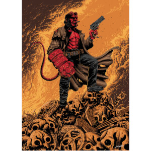 Hellboy Giclee by Sam Mayle - Zavvi Exclusive