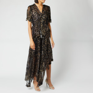 Preen By Thornton Bregazzi Women's Esther Dress - Gold Harlequin Animal