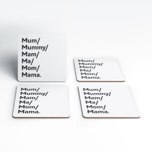 Mum's And Mam's Coaster Set