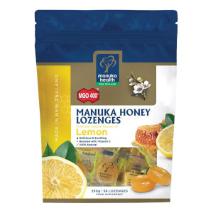 MGO 400+ Manuka Honey Lozenges with Lemon - 58 Lozenges