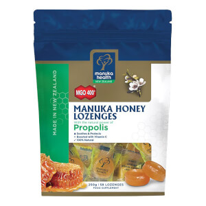 MGO 400+ Manuka Honey Lozenges with Propolis - 58 Lozenges