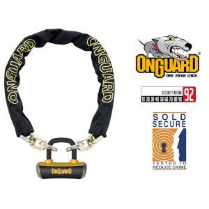 OnGuard Mastiff 8019L Bike Chain U-Lock - 180cm x 10mm