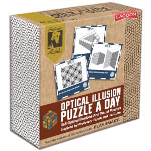 Rubik Optical Illusion A Day Deskblock