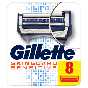 Gillette SkinGuard Sensitive Rasierklingen für Empfindliche Haut (8 Stück)