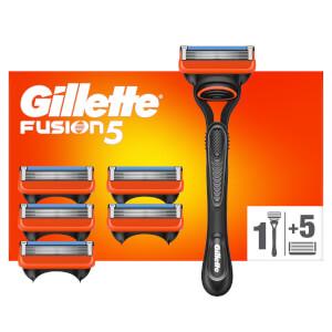 Gillette Fusion5 Rasierer mit 6 Klingen