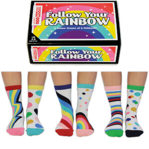 United Oddsocks Women's Follow Your Rainbow Socks Gift Set (UK 4-8)
