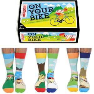 """United Oddsocks Herren """"On Your Bike"""" Socken-Geschenkset (Große 39-42)"""