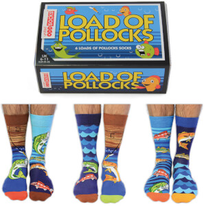 United Oddsocks Men's Load of Pollocks Socks Gift Set (UK 6-11)