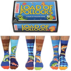 """United Oddsocks Herren """"Load of Pollocks"""" Socken-Geschenkset (Große 39-42)"""