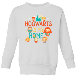 Harry Potter Kids Hogwarts Is My Home Kids' Sweatshirt - White