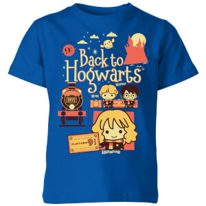Harry Potter Kids Back To Hogwarts Kids' T-Shirt - Royal Blue