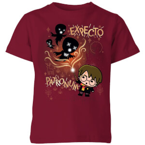 Harry Potter Kids Expecto Patronum kinder t-shirt - Burgundy
