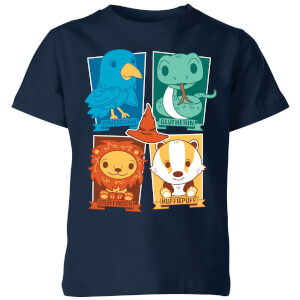 Harry Potter Kids Hogwarts Houses Kids' T-Shirt - Navy