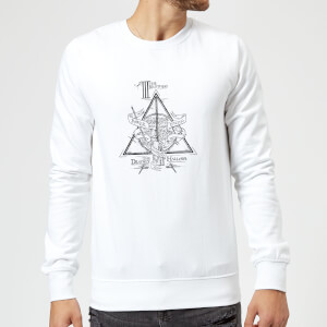 Harry Potter Three Dragons White Sweatshirt - White