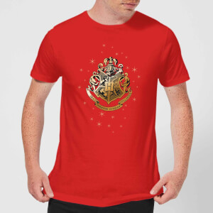 Harry Potter Star Hogwarts Gold Crest Men's T-Shirt - Red