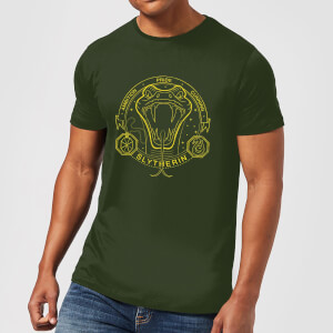 T-Shirt Harry Potter Serpeverde Snake Badge - Forest Green - Uomo