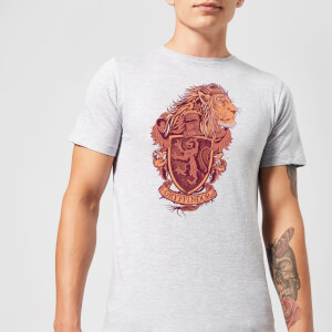 Harry Potter Gryffindor Drawn Crest Men's T-Shirt - Grey