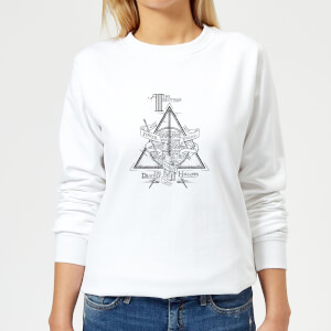 Harry Potter Three Dragons White Women's Sweatshirt - White