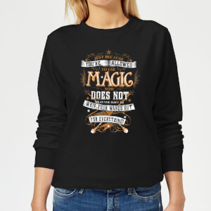 Felpa Harry Potter Whip Your Wands Out - Nero - Donna