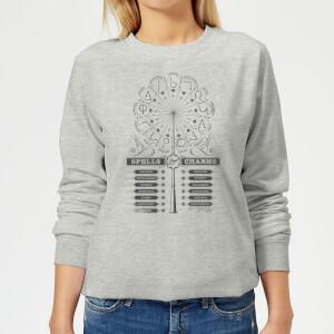 Harry Potter Spells Charms Women's Sweatshirt - Grey