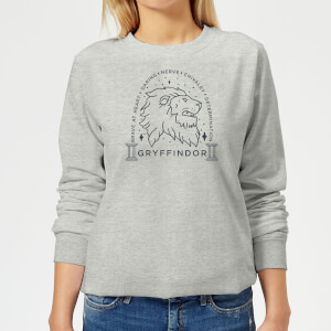 Harry Potter Gryffindor Linework Women's Sweatshirt - Grey